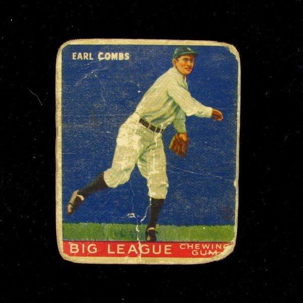Earl Combs #103 BP $75-$425 Goudey Baseball Card