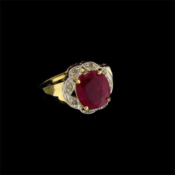 APP: 5.6k 14 kt. Gold, 2.35CT Ruby & Diamond Ring
