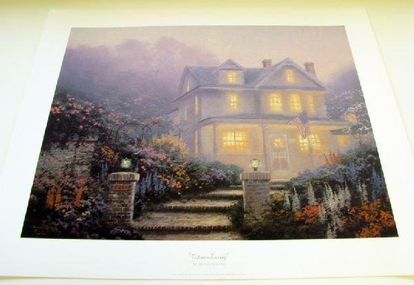 Thomas Kinkade Hand Signed & Certified Print