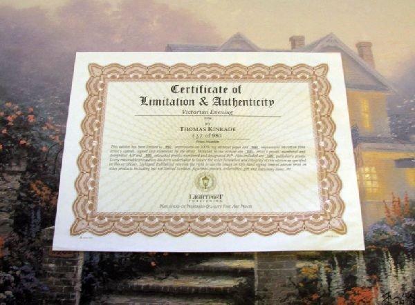 Thomas Kinkade Hand Signed & Certified Print - 2