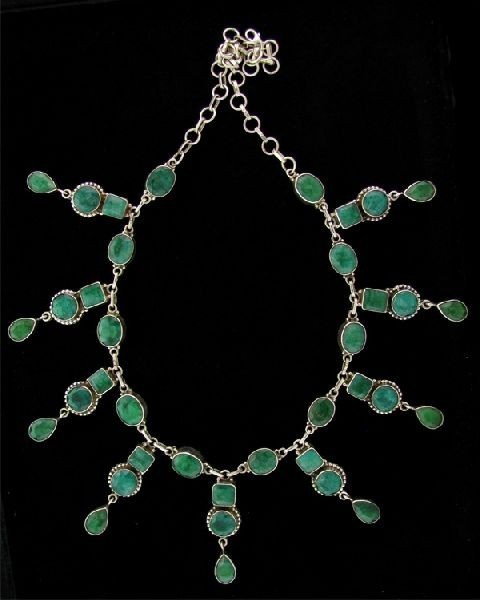 APP: 70.1k 81.68CT Emerald & Sterling Silver Necklace