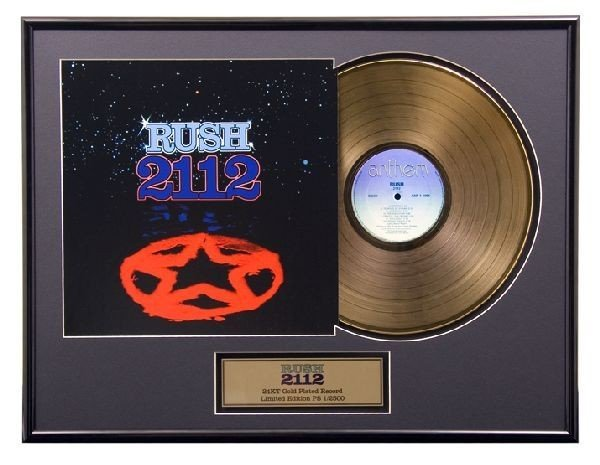 "RUSH ""2112"" Gold LP"
