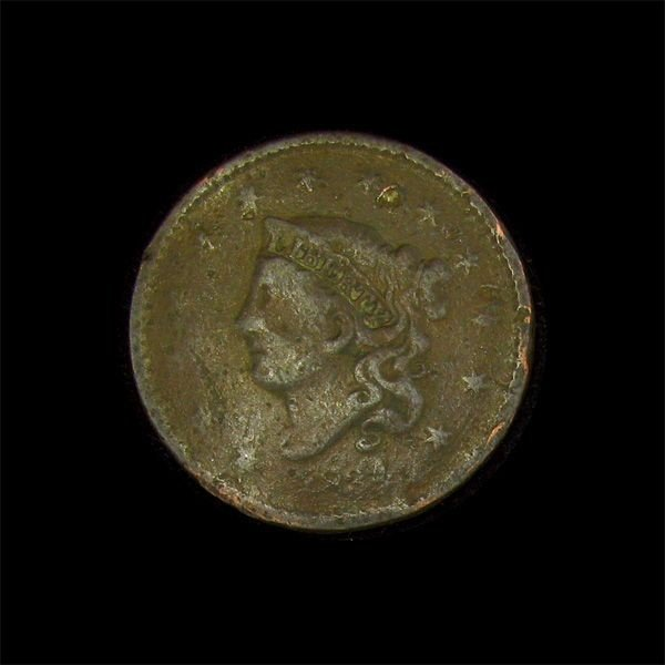 1834 Liberty Head Type One Cent Coin - Investment