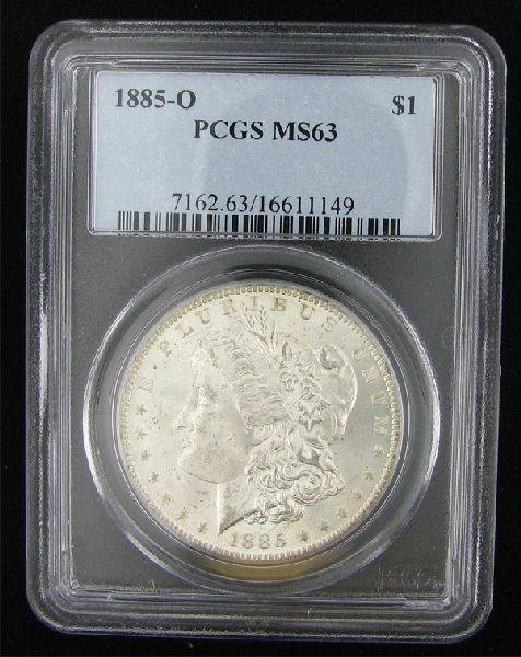 1885-O Morgan Silver Dollar Coin - Investment
