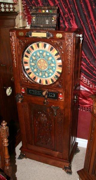 Antique Upright Slot Machine