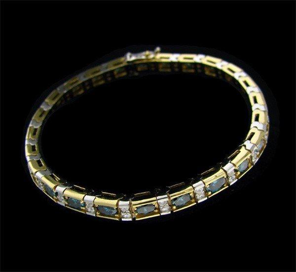APP: 34.9k 14 kt. Gold, 5.82CT Blue Diamond Bracelet