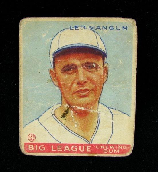 1933 Leo Mangum No.162 BP $30-$165 Goudy Baseball Card