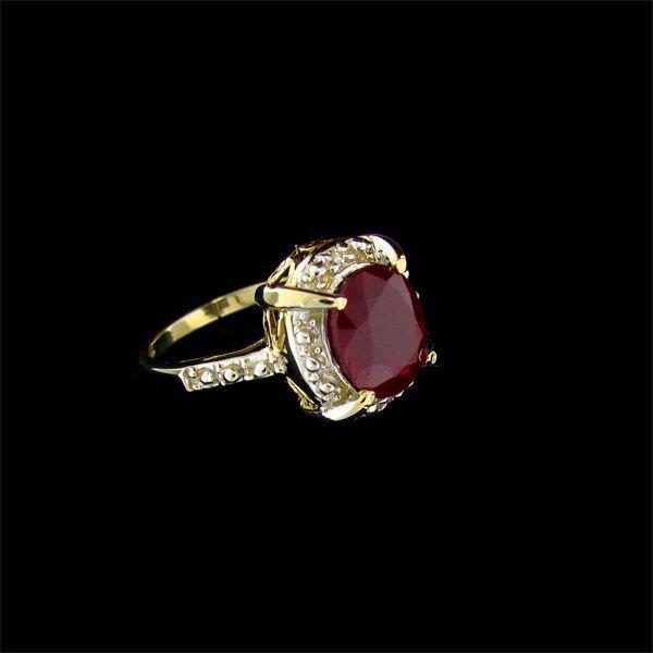 APP: 14.5k 14 kt. Gold, 4.72CT Ruby & Diamond Ring