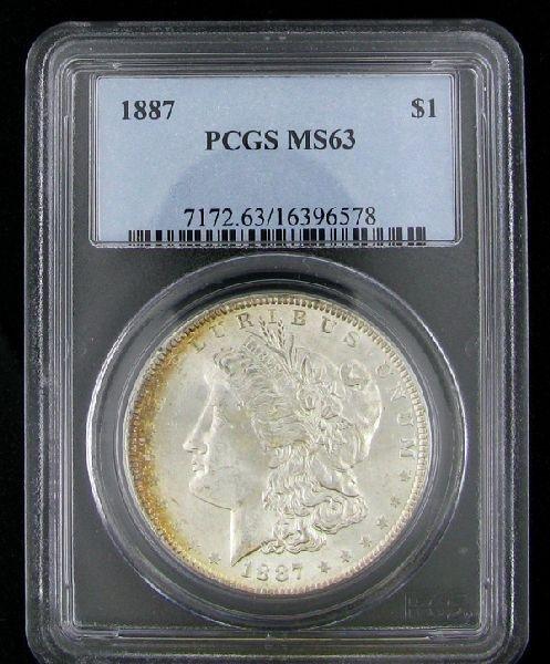 1887 U.S. Morgan Silver Dollar Coin - Investment
