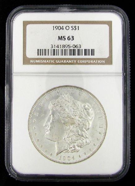 1904-O U.S. Morgan Silver Dollar Coin - Investment