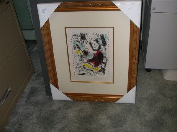"Signed Marc Chagall ""The Artist With A Goat"""