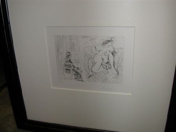 "Signed Pablo Picasso Etching - ""Bloch 1786"""