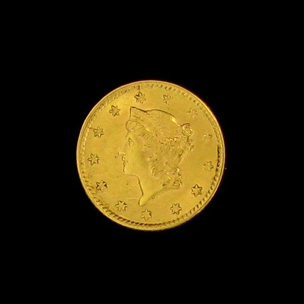1853 $1 U.S. Liberty Head Gold Coin - Investment