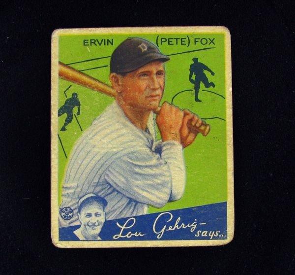 Ervin Fox No.70 Goudey BP $25-$160 Base Ball Card