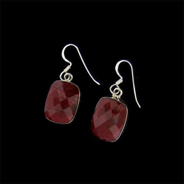APP: 17.4k 20.89CT Ruby & Sterling Silver Earrings