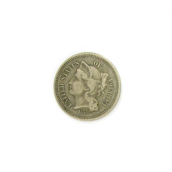 1868 3c Nickel Coin - Investment