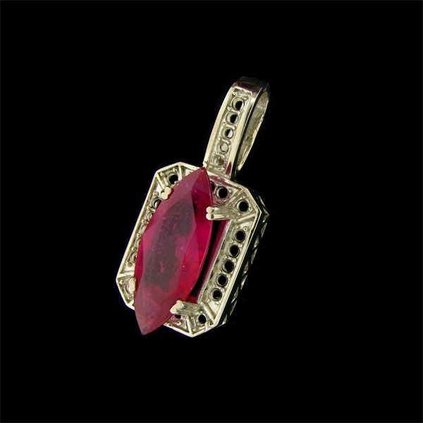 APP: 9.7k 15.07CT Ruby & Sterling Silver Pendant