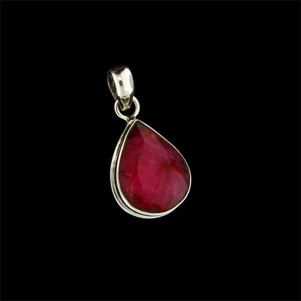 APP: 9.5k 15.28CT Ruby & Sterling Silver Pendant