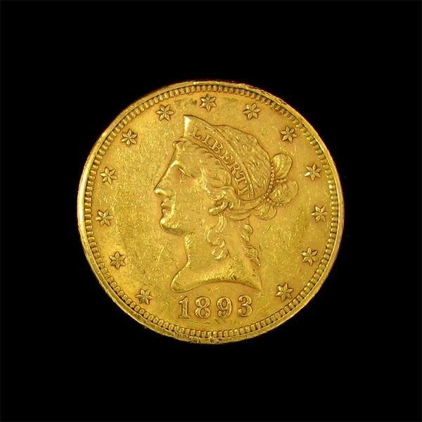 1893 $10 U.S. Liberty Head Gold Coin - Investment