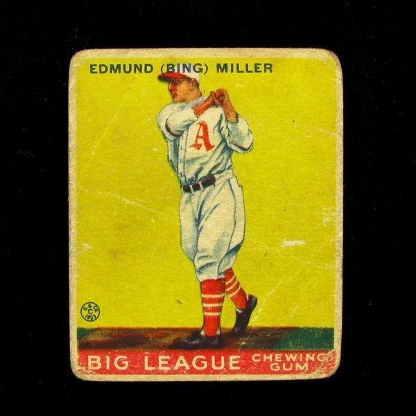 Edmund Miller #59 BP $30-$165 Goudey Baseball Card