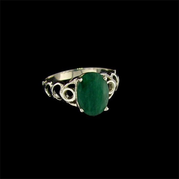 APP: 3.7k 2.74CT Emerald & Sterling Silver Ring
