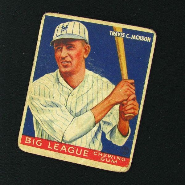 Travis Jackson #102 BP $75-$425 Goudey Baseball Card