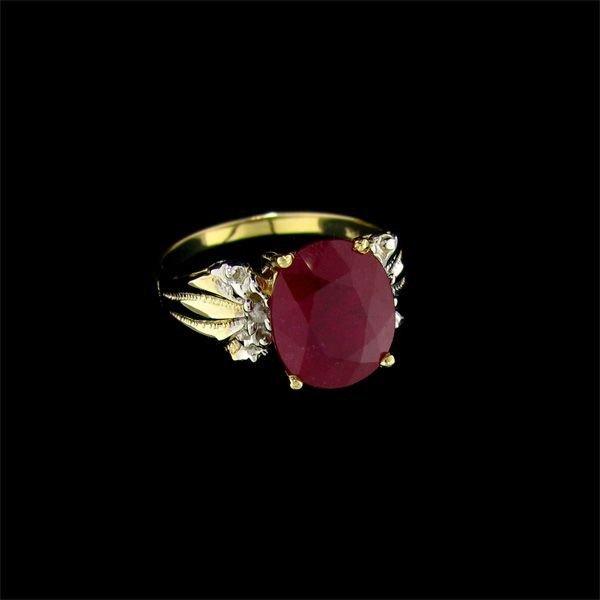 APP: 9.2k 14 kt. Gold, 4.97CT Ruby & Diamond Ring