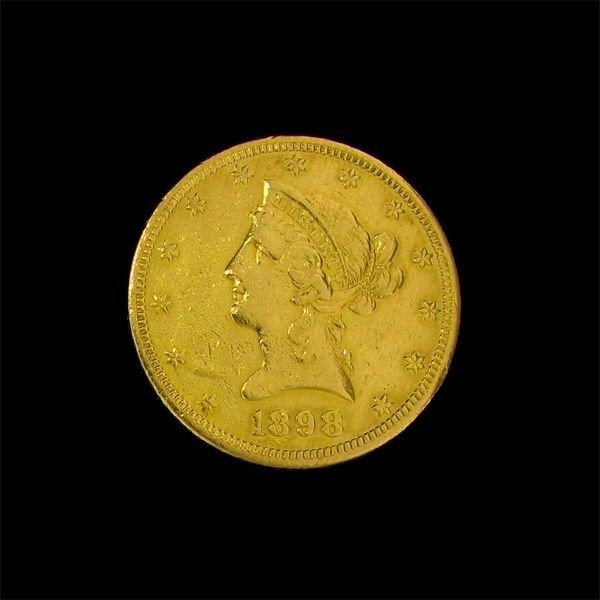 1898 $10 U.S. Liberty Head Gold Coin - Investment