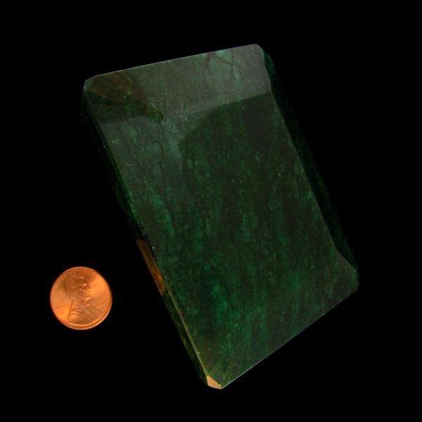 APP: 469.4k 1,635.50CT Emerald Cut Emerald Gemstone