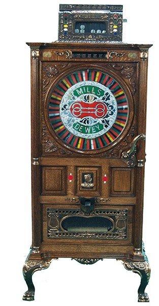 25 Cent Mills Dewey Jackpot Two Bit Musical Slot Machin