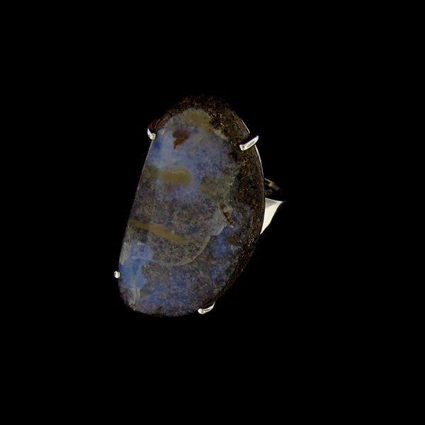 APP: 13.7k 33.86CT Boulder Opal & Sterling Silver Ring