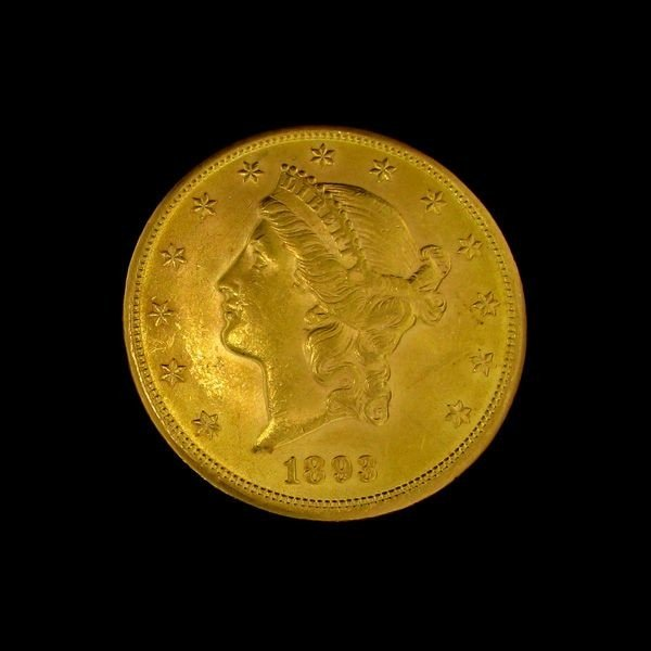 1893 U.S. Gold Liberty Head $20 Coin - Investment