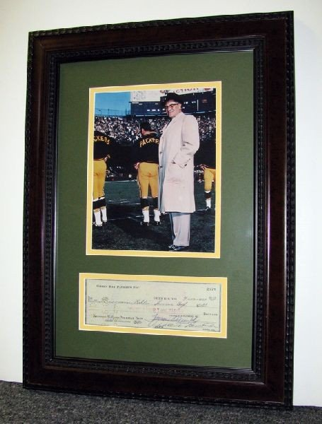 VINCE LOMBARDI Vince Lombardi, Framed Authentic Signed