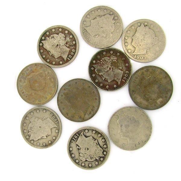 10 Misc. V Cent Coin - Investment