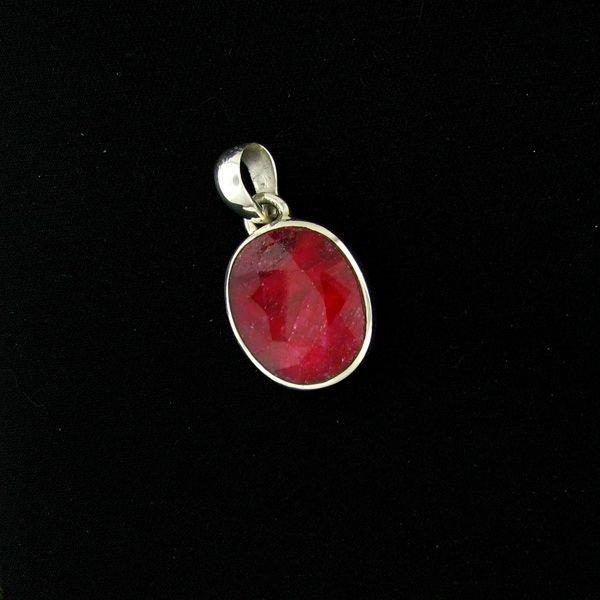 APP: 14.6k 23.19CT Ruby & Sterling Silver Pendant