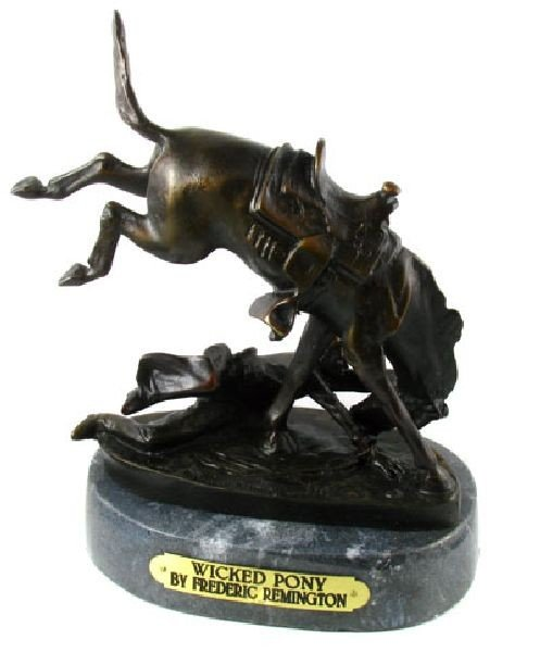 Frederic Remington Baby Bronze Reissue - Wicked Pony