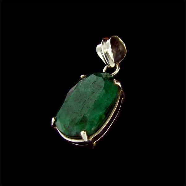 APP: 20.4k 21.71CT Emerald & Sterling Silver Pendant