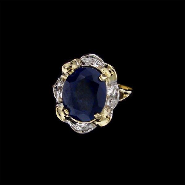 5: APP: 14k 5.29CT 14 kt. Gold, Sapphire and Diamond Ri