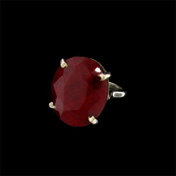 13: APP: 18.1k 16.03CT Ruby and Sterling Silver Ring