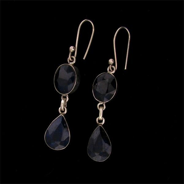 17: APP: 21k 26.98CT Sapphire and Sterling Silver Earri