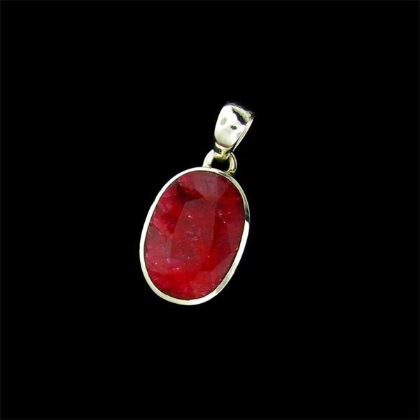 APP: 10.5k 16.66CT Ruby & Sterling Silver Pendant