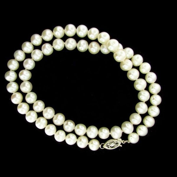 "17"" Pearl Necklace - Long Strand"