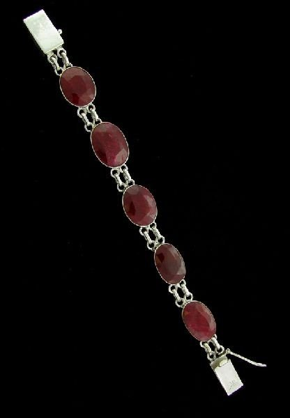 APP: 44.2k 52.67CT Ruby & Sterling Silver Bracelet