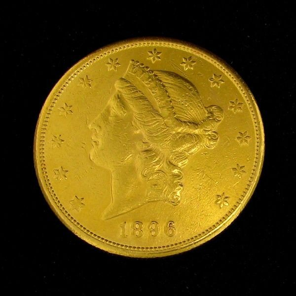 1896-S $20 U.S. Gold Liberty Head Coin - Investment