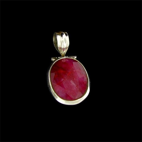 APP: $9.9k 16.21CT Ruby & Sterling Silver Pendant