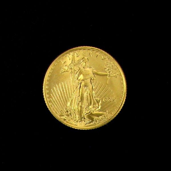 1992 $5 U.S.Gold Saint Gaudens 1/10 Coin - Investment