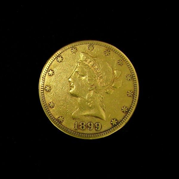 1899-S $10 U.S. Liberty Head Gold Coin - Investment