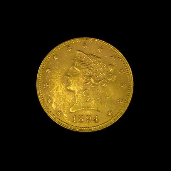 1894 U.S. Gold Liberty Coronet $10 Coin - Investment