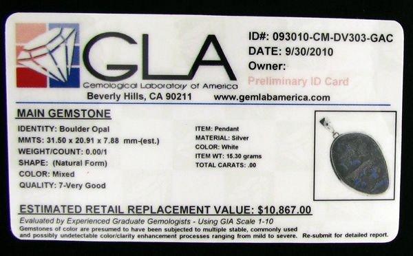 APP: 10.9k 50.23CT Boulder Opal & Sterling Silver Penda - 2
