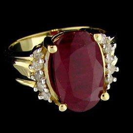 APP: 10.8k 14 kt. Gold, 5.27CT Ruby & Diamond Ring